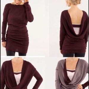 Lululemon reversible Serenity sweater Burgundy 6